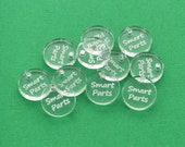 "100 Custom Acrylic Tags, 3/4"" diameter, Laser Cut and Engraved circle, personalize with your company logo or design"