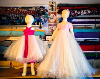 "Custom Tulle ""Infinity"" Flower Girl Dresses"