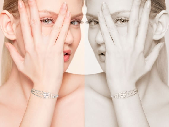 Small Silver Heart Bracelet, Silver Heart, Heart Bracelet, Beaded Heart Bracelet, Small Heart Bracelet, Dainty Bracelet