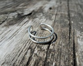 Double Knuckle Ring - Midi Rings Stacking Rings Sustainable Sterling Silver 925 or Gold Filled 14k- Adjustable