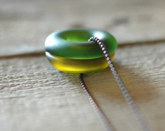 SALE: Wine Duo Long Necklace | Recycled Wine Bottle Jewelry