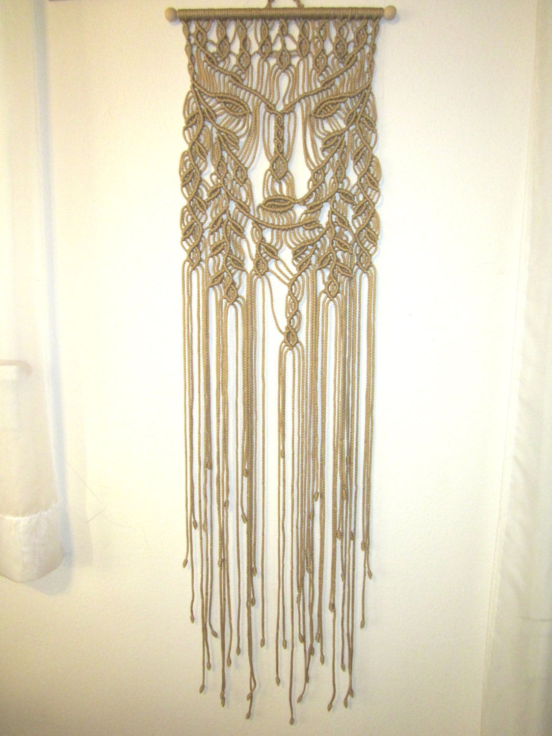 Macrame wall hanging dryad handmade macrame home decor for Home made decorative items