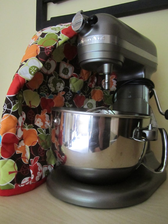 6 Quart Quilted Mixer Cover For Kitchen Aid Brown Red