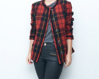 2016 plaid jackets tartan coats for women