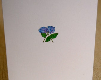 watercolor hydrangea cards
