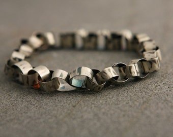 ON SALE, Free shipping, Oxidized sliver bracelet, Handcrafted jewelry, Gift for men