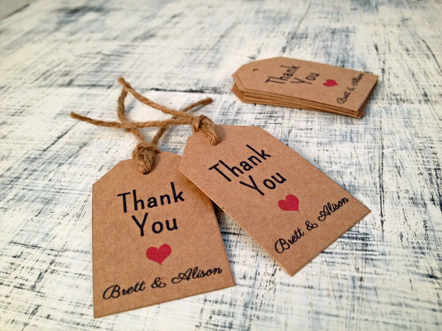 20 personalized thank you gift tags or by texasfarmersdaughter