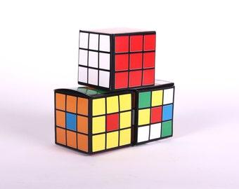 Rubik's Cube 80's Party Favors Retro Party Favors, Retro Game Gift Box, That 70's Show, Printable Favor Box, Printable Decoration, Rubiks