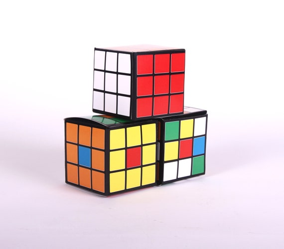 Rubiks Cube - Printable DIY Favor Boxes 70s or 80s Retro Party ...