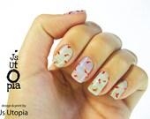 Goldfish Pattern Full Nail Sticker / Nail Wrap