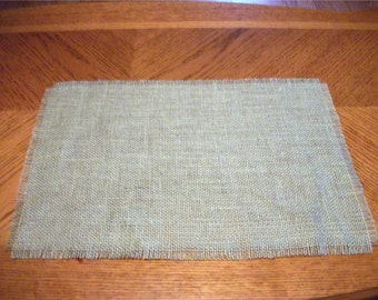 Natural Jute Burlap Place Mats Placemats Simple Fringed Wedding Table Decor Singles Sets of 4, Sets of 5 Placemats 12X18 Inches
