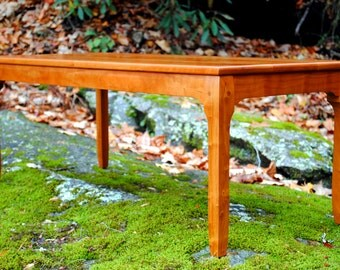"Cherry Coffee Table ""Deco Minima"", Art Deco Furniture, Art Deco Coffee Table"