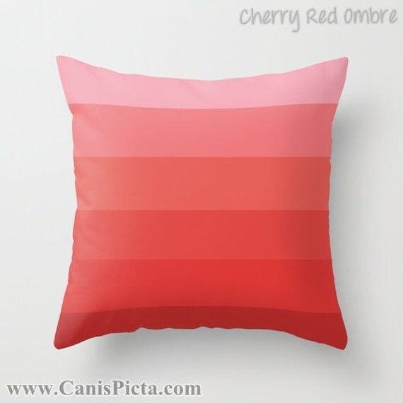 Throw Pillow Color Combinations : OMBRE Throw Pillow 16x16 Graphic Print Cover Bright Dark