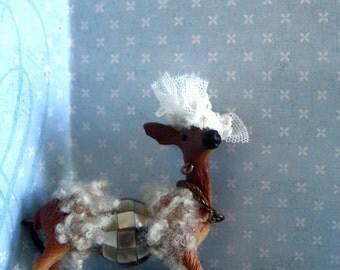 """Animal Necklace """"  Fury Bambi """""""