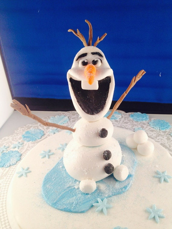 Items similar to Olaf cake topper a character from the ...