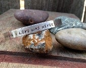 """Miscarriage Bracelet, Cuff Reads """"Someone I Love Was Never Born"""" with Baby Feet Trail"""