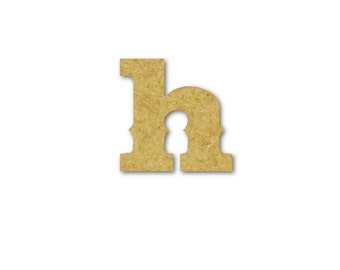 "Small Wooden Letters ""h"" Unfinished, Unpainted, Decorative Font -- Perfect for Crafts, DIY, Nursery, Kids Rooms, Weddings – Sizes 1"" to 42"""