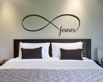 Infinity Symbol Bedroom Wall Decal Forever Bedroom Decor Home Decor Infinity Loop Wall Quote Vinyl Lettering