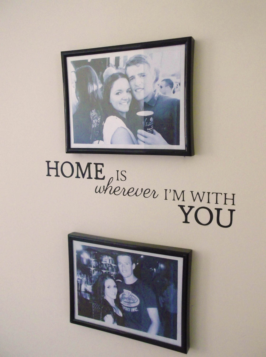Home is wherever i 39 m with you original love wall for Quote wall ideas