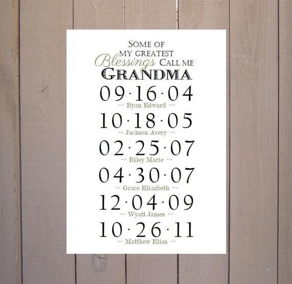 Items similar to grandma blessings grandchildren birthday for Good birthday presents for grandma