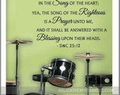 For my Soul Delighteth in the Song of the Righteous - Family Wall Decal - Religious Wall Decal - Scripture Decal
