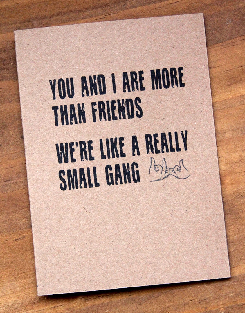 You And I Are More Than Friends Were Like A Really Small – Happy Birthday Card Best Friend