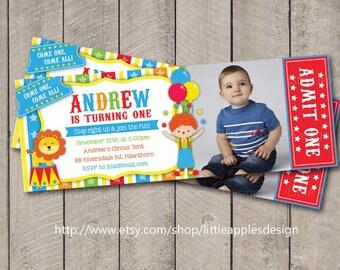 Circus Invitation Ticket / Circus Invitation / Circus Invite / Circus Invitation Birthday / Carnival Invitation / Circus invite Printable