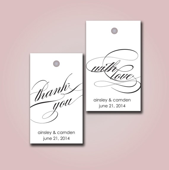 Diy Printable Wedding Favor Tags : Printable Gift Tag TY WL - wedding / party favor tag diy CUSTOMIZED