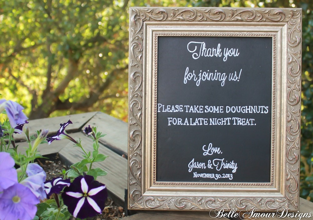 Wedding Gift Table Sign Wording : Chalkboard Wedding Favor Sign