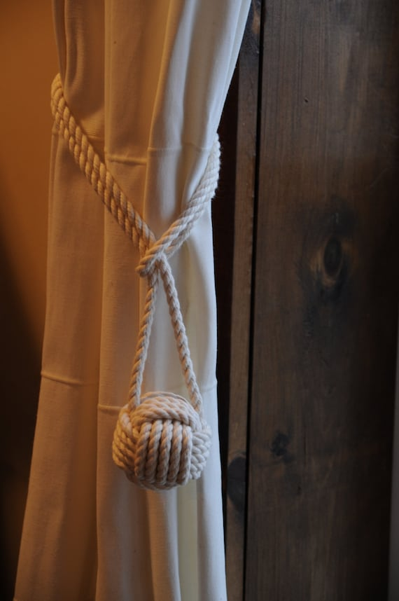 Rope Knots Cotton Rope Curtain Tie Backs Nautical Decor