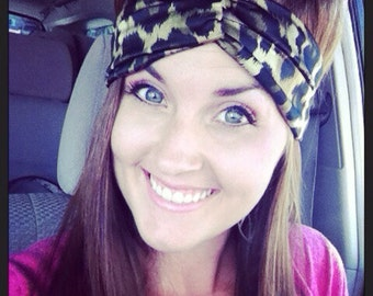 Leopard Print Turban Twist Headband