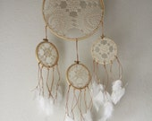 Vintage Doily Dreamcatcher No. 034