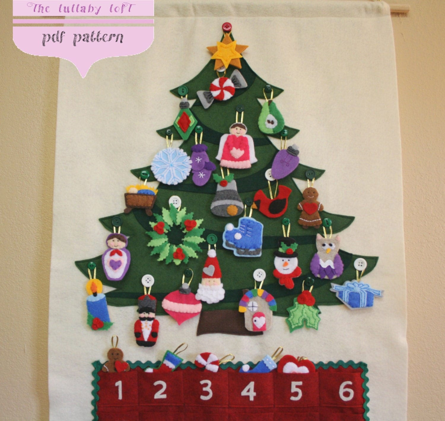 Christmas Tree Advent Calendar Pattern 29 by thelullabyloft
