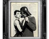Darth Vader Star Wars Art Print, AUDREY HEPBURN Poster, Star Wars Print on DICTIONARY Paper, Hollywood Poster Artwork - Impossible Movie