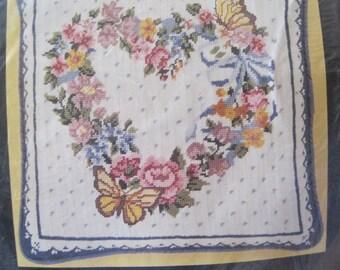 "Needlepoint Pillow Kit - Butterfly Wreath - 14"" x 14""  - Bucilla - NEW NIP"