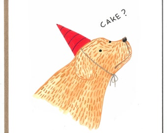 Cake Dog / Greeting Card