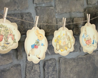 Vintage Peter Rabbit Banner ~ Decoration for a Baby Shower, Nursery, or Easter ~ Instant Download !