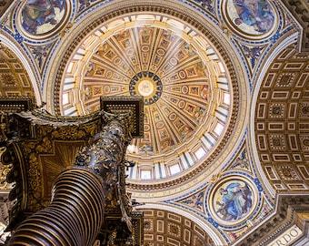 Saint Peter's Dome, Basilica, Vatican City, Rome, Italy, Church, Dome, Cupola, Lazio - Travel Photography, Print, Wall Art