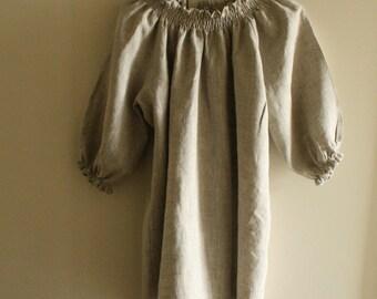 LINEN BLOUSE / natural / shirt / top / womens linen clothing / maternity / eco / organic / tunic / australia / handmade by pamelatang