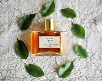 Vintage Eau De JOY Perfume by JEAN PATOU Paris France / Splash /