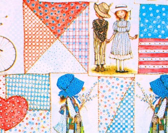 Vintage 1973 HOLLY HOBBIE GIFT Wrap / Wrapping Paper