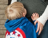 SUPER HERO cape Big Brother Big Sister gift - New sibiling present - Easter Gift- Baby announcement - with your Cape
