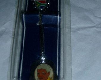 80s Nelson Mandela Photo Spoon Pkg Apartheid Collectible Souvenir