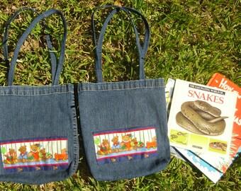Little Artist Bag 2 pockets Canvas Choice of 9 colors