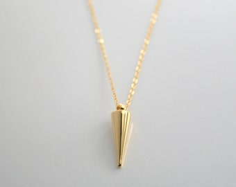 Gold spike, 14kt gold fill, necklace - GOLD SPIKE