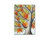 ACEO art print, Autumn tree