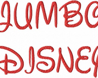 "JUMBO Disney Machine Embroidery Font - Sizes 5"",6"",7"" - BUY 2 get 1 FREE"