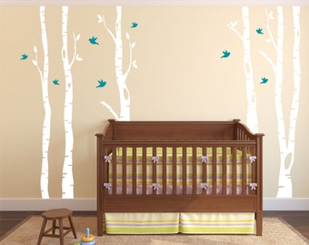 Birch Tree Decal - Tree Wall Decal - Wall Decal Nursery - Kids Tree Wall Art - Large Tree Decals