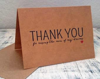 In-laws thank you card - personalized thank you card with wedding date