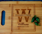 Engraved Personalized Cutting Board, Bamboo Cutting Board, Housewarming Gifts, Holiday Gift, Wooden Cutting Board, Monogram Cutting Board